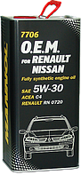 Моторное масло MANNOL O.E.M. for Renault Nissan C4 5w30 4 литра