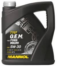 Моторное масло MANNOL O.E.M. for Ford Volvo 5W30 4 литра