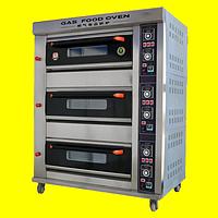 Пекарский шкаф газовый, 3 секции 6 противней