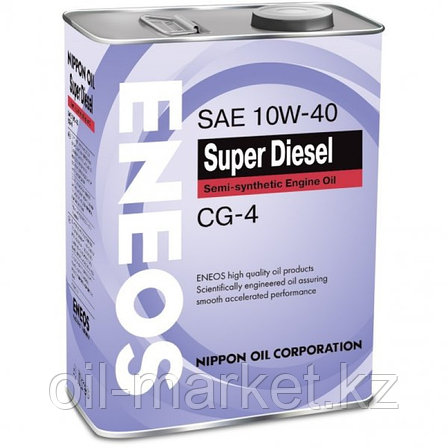 ENEOS SUPER DIESEL 10w-40 semi-synthetic 4 л, фото 2