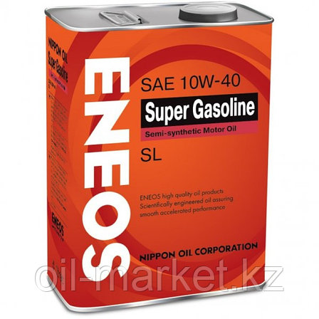 Моторное масло ENEOS SUPER GASOLINE 10w-40 semi-synthetic 4 л, фото 2