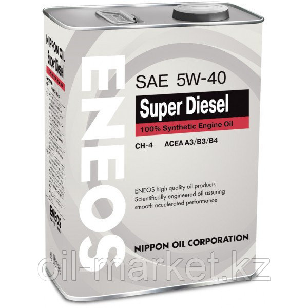 Моторное масло ENEOS SUPER DIESEL 5w-40 Synthetic (100%) 4 л