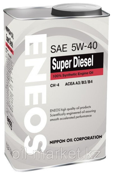 Моторное масло ENEOS SUPER DIESEL 5w-40 Synthetic (100%) 0.94 л