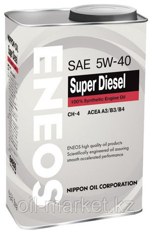 Моторное масло ENEOS SUPER DIESEL 5w-40 Synthetic (100%) 0.94 л, фото 2