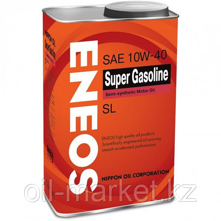 Моторное масло ENEOS SUPER GASOLINE 10w-40 semi-synthetic 0.94 л, фото 2