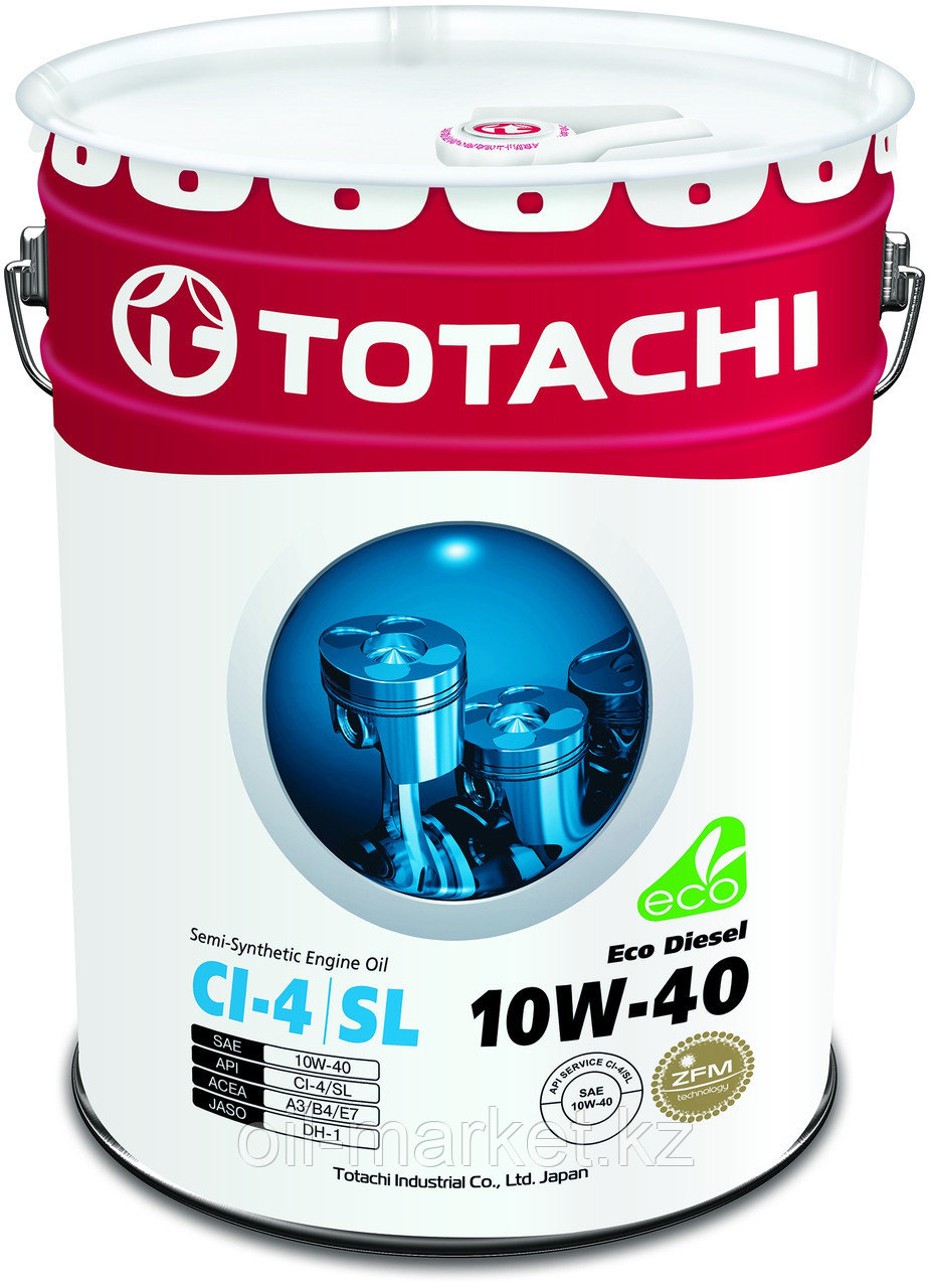 Моторное масло TOTACHI Eco Diesel Semi-Synthetic CI-4/CH-4/SL 10W-40 20L