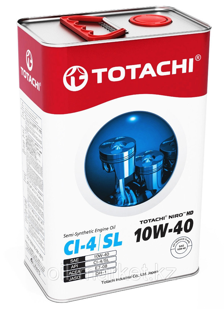Моторное масло TOTACHI NIRO HD SEMI-SYNTHETIC API CI-4/SL 10W-40 4L