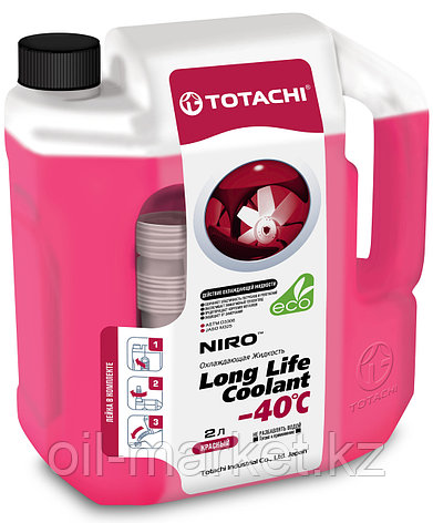 Антифриз TOTACHI NIRO LONG LIFE COOLANT Red 2л. (Красный), фото 2