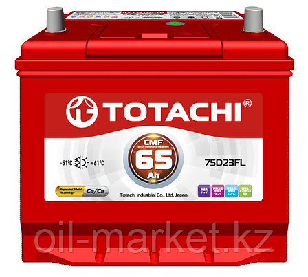 Аккумулятор TOTACHI 65 А/ч CMF - 75D23FL, фото 2