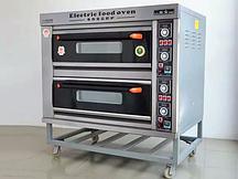 Пекарский шкаф электрический, 2 секции 4 противня