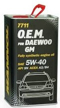 Моторное масло MANNOL O.E.M. for Daewoo GM 5w40 4 литра
