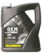 Моторное масло MANNOL O.E.M. for Hyundai Kia 5w30 4 литра