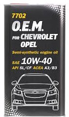 Моторное масло MANNOL O.E.M. for Chevrolet Opel 10w40 1 литр