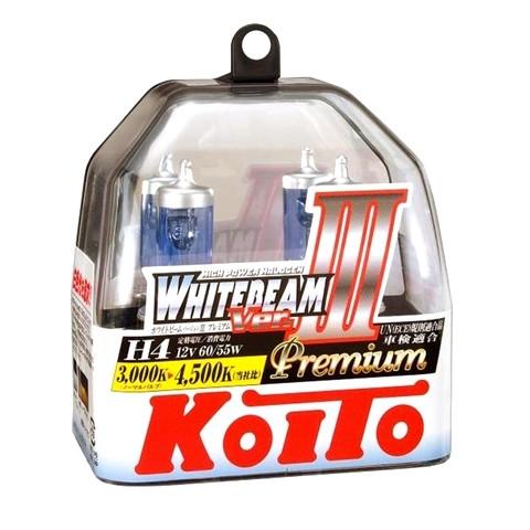 Галогенные лампы H-4 Koito WhiteBeam III, 4200K