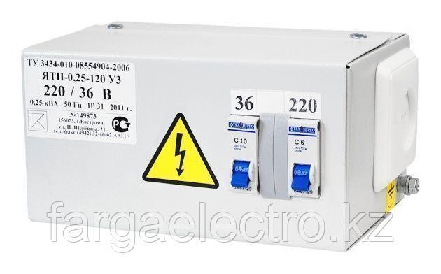 Ящик с понижающим трансформатором ЯТП-0, 25 220/36
