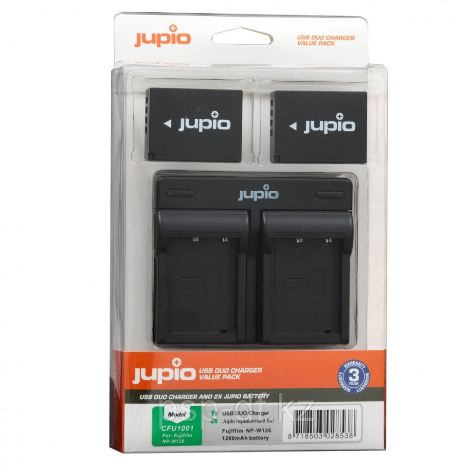 Jupio Kit: 2x Battery NP-W126 + USB Duo Charger