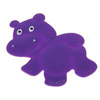 Мини коврик детский для ванной на присоске животные