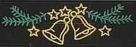 Горизонтальное световое панно   Колокола и звезды 60*200 см