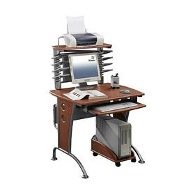 Компьютерный стол, Deluxe, DLFT-339S Stellare, МДФ, 85*129*68 см, Ореховый, Полки для клавиатуры и с