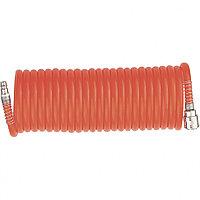 Шланг спиральный воздушный 8х12мм, 18 бар, с быстросъемными соединениями , 15 м// STELS