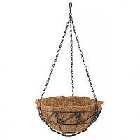 Кашпо подвесное с орнаментом, диаметр 25 см, с кокосовой корзиной, PALISAD, 69003