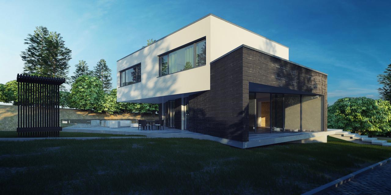 Проект экстерьера жилого дома