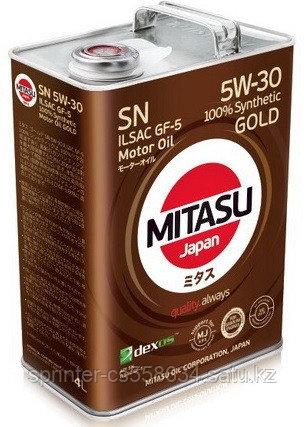 Моторное масло MITASU GOLD SN 5w30 4 литра