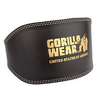 Gorilla Wear пояс для тренировок Full Leather padded belt Black