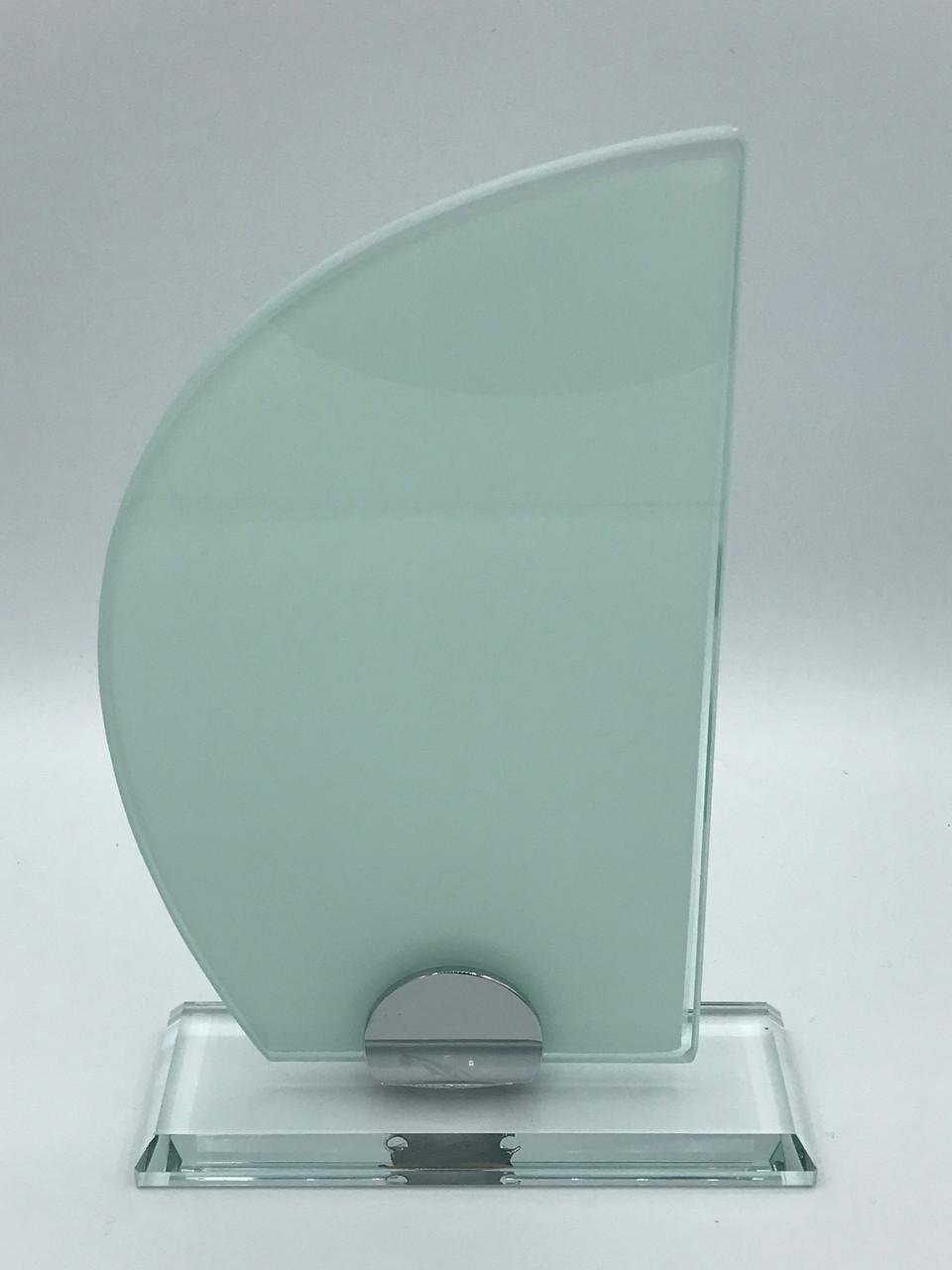 "Награда стеклянная для сублимации (h 20см) ""Парус"""