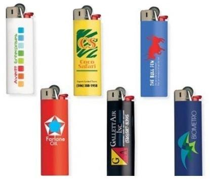 Полноцветная УФ печать на зажигалках
