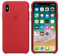 Силиконовый чехол для iPhone X/ iPhone 10 (красный), фото 1