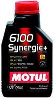 Моторное масло Motul 6100 Synergie + 10w40 1 литр