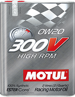 Моторное масло Motul 300v High RPM 0w20 2 литра