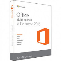 Офисное приложение	T5D-02704 MS Office Home and Business 2016 32/64 RU Kazakhstan Only DVD P2