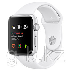 (MNNW2RU/A) Смарт-часы Apple Watch S2 Sport 38mm Silver Alluminium/White