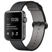 (MP052RU/A) Смарт-часы Apple Watch S2 38mm Sp.Grey Al/BlWovNylBand