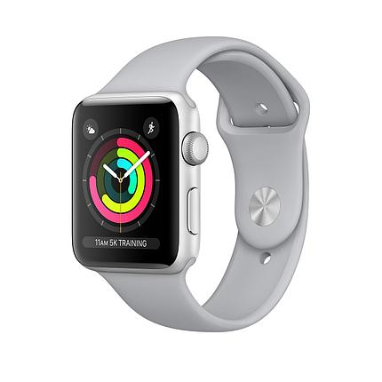 Apple  Watch 42mm series 3 Silver Aluminum Case with Fog Sport Band, фото 2