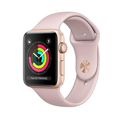 Apple   Watch 38mm series 3 Gold Aluminum Case with Pink Sand Sport Band, фото 2