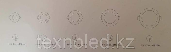 Светодиодный спот 12W  круглый, серебро, фото 3