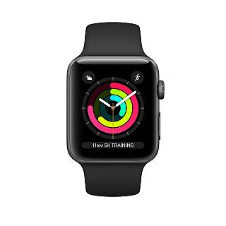 Apple Watch 38mm series 3 Space Gray Aluminum Case with Black Sport Band