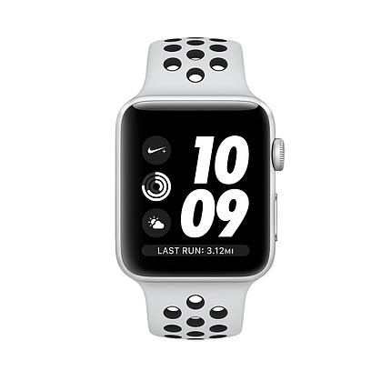 Apple Watch 38mm Nike+ Silver Aluminum Case with Pure Platinum/Black Nike Sport Band, фото 2