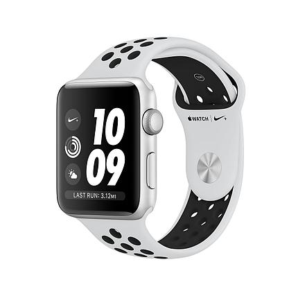Apple Watch 42mm Nike+ Silver Aluminum Case with Pure Platinum/Black Nike Sport Band, фото 2