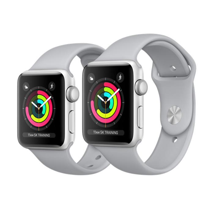 Apple Watch Series 3  42 мм silver sport band