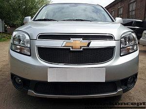 Защита радиатора Chevrolet Orlando black низ