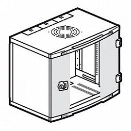 Шкаф настенный Legrand XL VDI, 6U 350*600*400мм