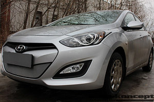 Защита радиатора Hyundai i30 2013-2015 chrome