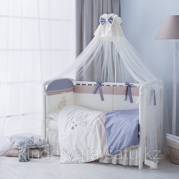 Комплект в кроватку Perina Котята, лазурь 6 предметов
