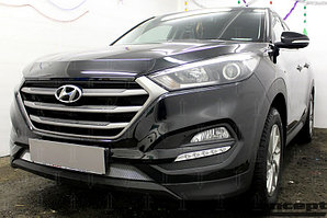 Защита радиатора Hyundai Tucson 2015- (Comfort, Travel, Prime) chrome низ