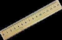 Линейка деревянная 15 см.