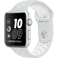 Apple watch series 2 42mm nike+silver aluminum case with pure platinum/white nike sport band